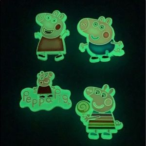 Glow in the dark Peppa the Pig Shoe Charms